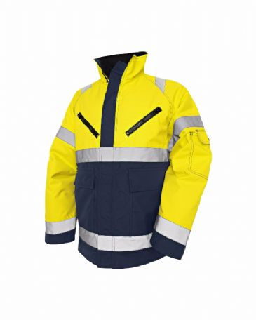Blaklader 4827 High Vis, Winter Jacket, PU (Yellow/Navy Blue)